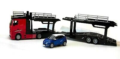 Focus Sw BURAGO 1:43 BU31459 Mercedes Benz Actros 2 2545 Truck Car Transporter