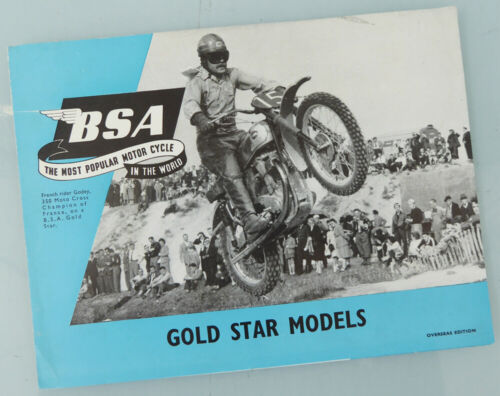 1955 BSA MOTORCYCLE BROCHURE BOOK CATALOG GOLDSTAR B32 B34 SCRAMBLES CLUBMAN +