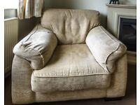 2 Seater Settee and Armchair - Collection only