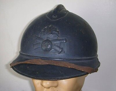 Wwi M1915 French Army Artillery Adrian Helmet From Afs Driver Lt  Bowns Estate