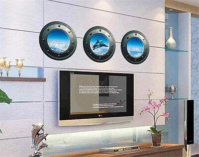 3D Plane Blue Sky Home Decor Removable Wall Sticker Decal Decoration Vinyl Mural - Sky Home Decor