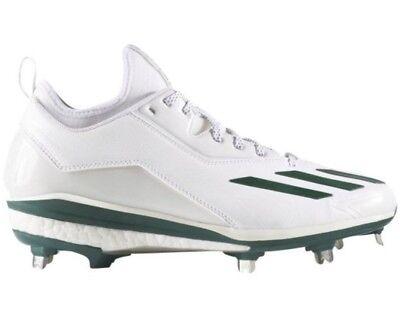 pretty nice 95dfc 7860b Adidas Mens Energy Boost Icon 2 Q16533 Metal Baseball Cleats Green White 13
