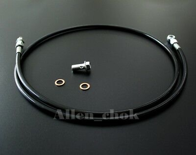 Braided Black Stainless Steel Clutch Line For Honda civic 92-00 B/D &Acura 94-01