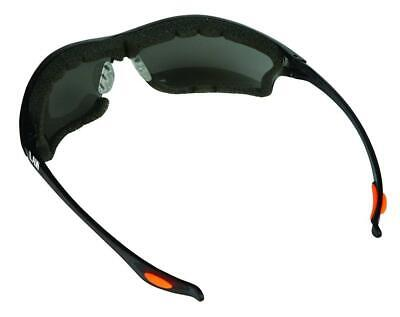 Anti-fog Dielectric Lens Safety Glasses Fashionable Gray Protection Side Impacts