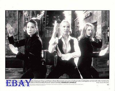 Lucy Liu Cameron Diaz Drew Barrymore VINTAGE Photo Charlie's Angels