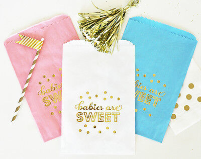 Babies Are Sweet Gold Foil Candy Buffet Bags Baby Shower - Candy Buffet Baby Shower