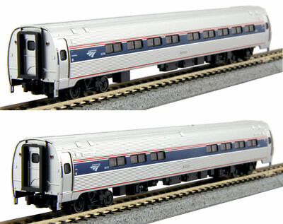 KATO 1068003 N Scale Amtrak Amfleet I Ph VI Coach-Cafe 2 Car Set B 106-8003   ()