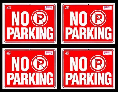 4 No Parking Flexible Heavy Plastic Sheet 9x12 4 Sign