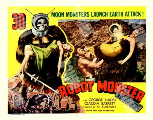 ROBOT MONSTER - 1954 - MOON  ATTACK  SCI-FI  # 4 - 11 x 14 TRUE COLOR LOBBY CARD