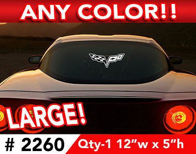 "CORVETTE C6  LARGE CAR OR WALL DECAL STICKER 12""w x 5""h ANY 1 Color"