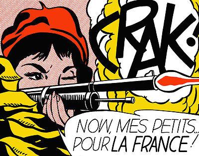 Lichtenstein Roy Crak Canvas 16 x 20  #4737