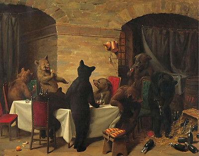 Beard Holbrook William Bear Carousal Canvas 16 x 20   #3534