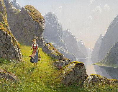 Dahl  Hans Fjord Landscape Print 11 x 14  # 4977