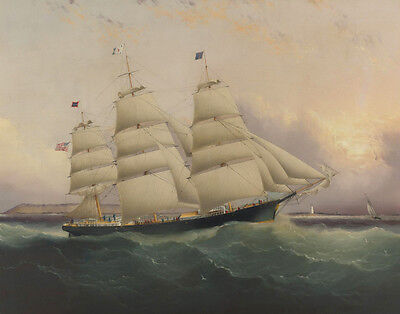Buttersworth James The Clipper Ship Sunrise Print 11 x 14  #5812 (James Buttersworth Ships)