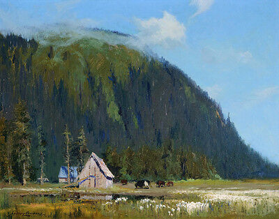 Laurence Sydney Near Juneau Alaska Canvas 16 x 20   #8940