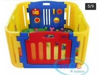 PLAYPEN BRIGHT COLOUR PLASTIC TOYS