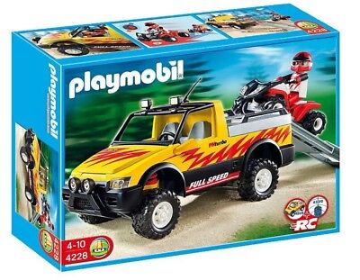 Playmobil 4228 Quad Bike And Pick-Up Truck Child Toy