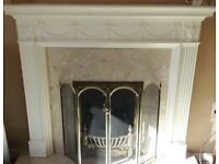 Living flame Gas Fire& Fire Surround & Hearth