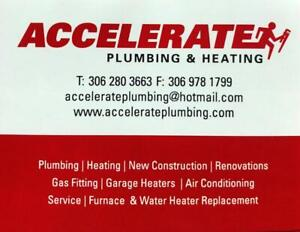 Accelerate Plumbing & Heating Ltd - Fully Insured - 306-280-3663 - Free Quotes
