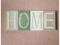 Home wall art sign