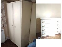 Drawers and matching wardrobe/cupboard