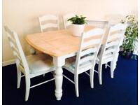 Beautiful solid wooden table and 6 chairs