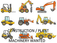 Construction / Plant Machinery Required