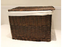 Large wicker basket in good condition for sale