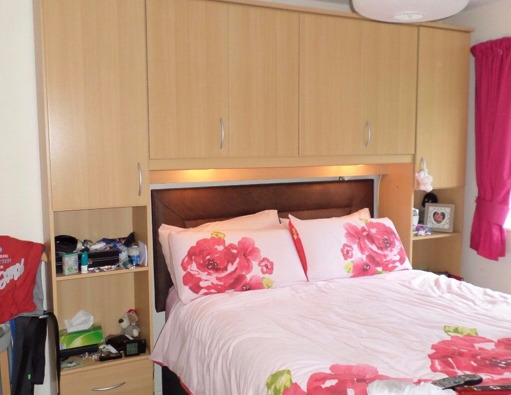 Overbed Fitted Wardrobes Bedroom Furniture Bensons For Beds Overbed Unit King Size Drawer Chest In Beech