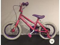 "Pink Princess Bike - 14"" Wheels"