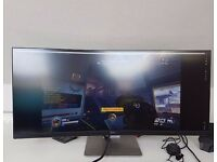 "Dell U3415W 34"" UltraSharp 21:9 Widescreen LED-Backlit Curved Monitor (Damage Screen)"