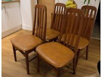 4 Wooden dinning table chairs