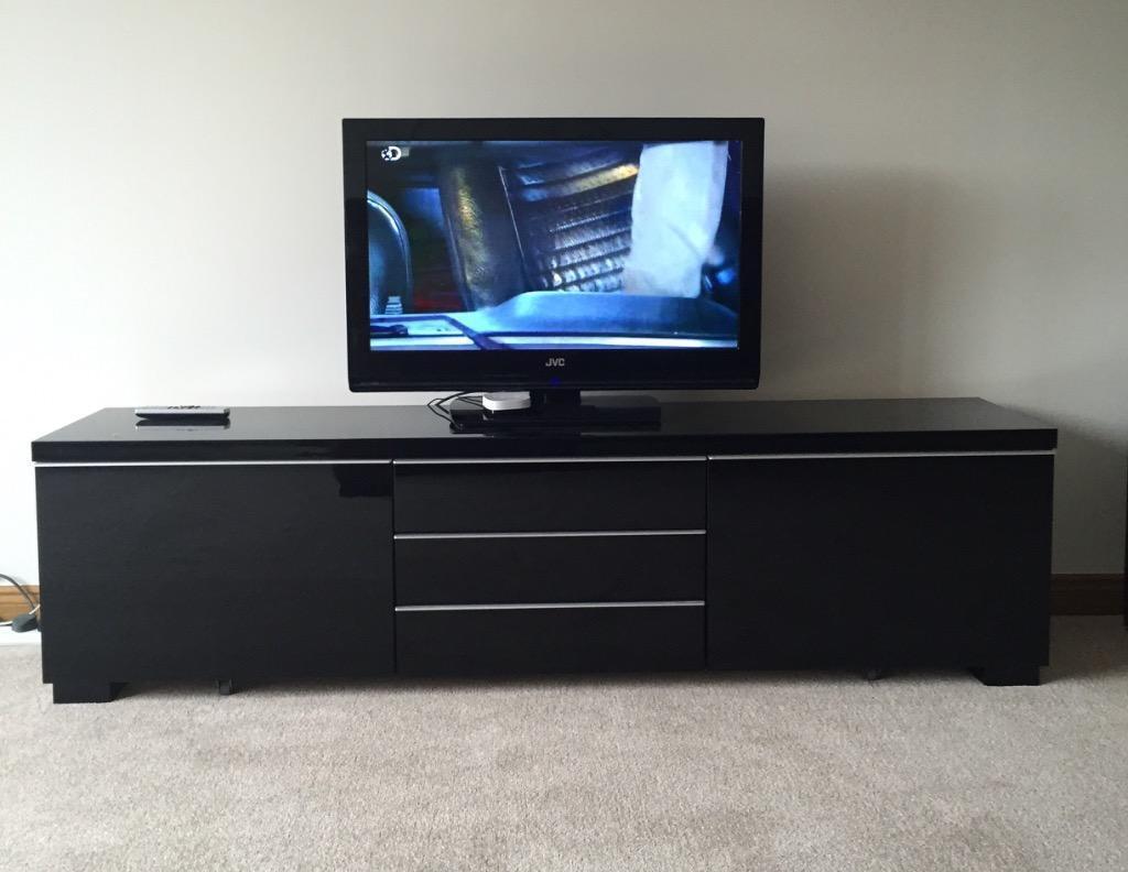 High Gloss tv Unit Grey High Gloss Black tv Unit From