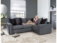 Quality charcoal grey veronica corner sofa with (Extra chair)**Free delivery**