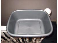 Waitrose Rigid Plastic Grey Rectangular Hand Washing Up Bowl 18 30 13.5 cm