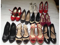 job lot of ladies shoes, handbags, jewellery and other items car boot - amazing value