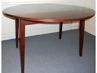 Round Drop Flap Dining Table