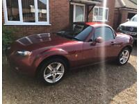 2009 Mazda MX5 hardtop convertible finished in metallic Copper Red - rare