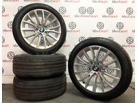 "GENUINE BMW 5 SERIES 18"" ALLOY WHEELS WITH PIRELLI TYRES - 5 x 120 - DIAMOND CUT FINISH - 2243"