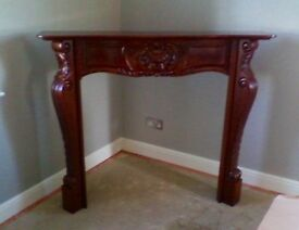 Carved Mahogany Fire Surround