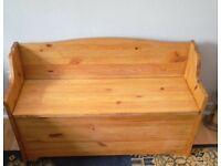 Solid pine child's storage bench/ seat