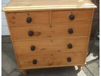 Victorian pine chest of draws