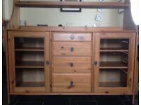Ikea wooden dining room cabinet/dresser