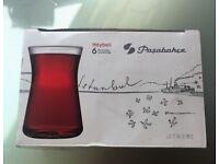 Turkish Tea Glasses, Pasabahce Design (6 Pc)