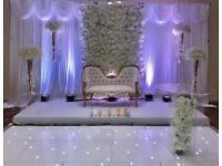 LED dance floor & LED LOVE letters for hire