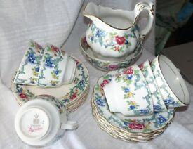 Royal Daulton Booths Flora Dora China Tea Set
