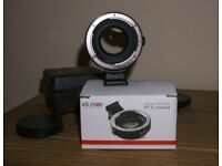 Autofocus Viltrox Focal Reducer (Speed booster) Canon Ef to Sony e. Like Metabones