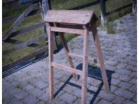 Wooden saddle horse