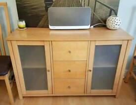 Oak Veneered side board for sale
