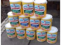 12 X 5 ltr tins 11 full tins Sandtex Masonry Paint I also have 1 tin partly used. B&Q price £29.each